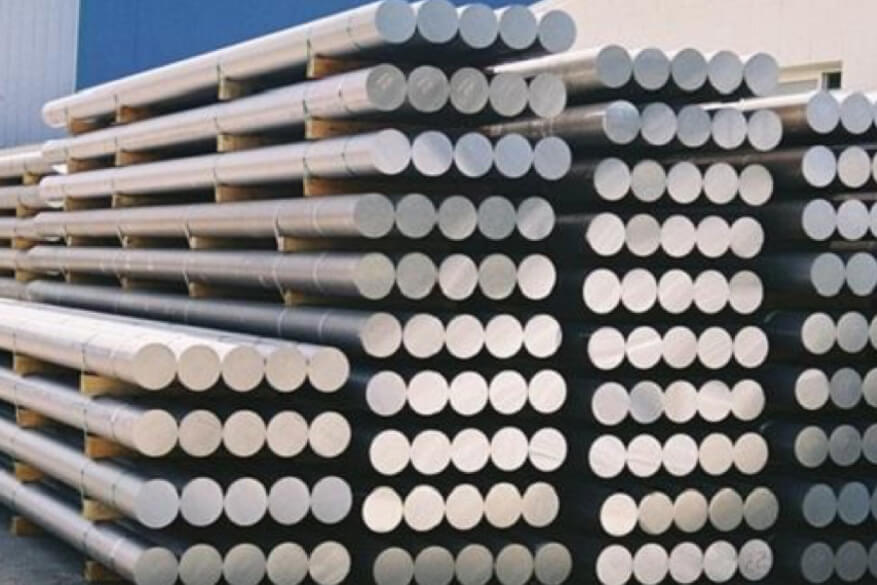 Solid steel bar