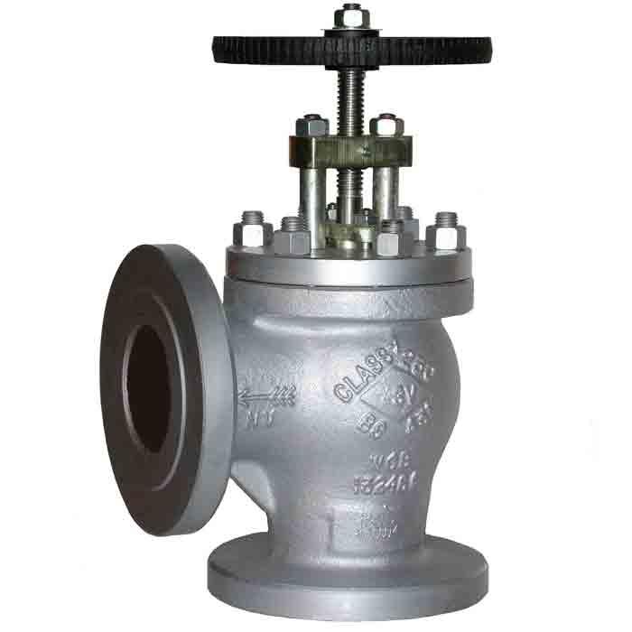 Angled globe valve style