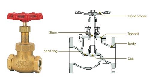 cross-section of globe valve