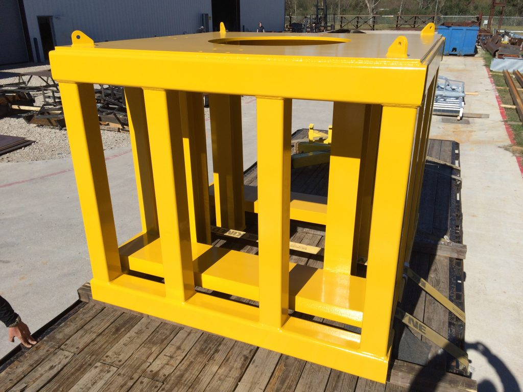 fully painted structural skid