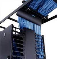 cable waterfall into container
