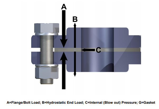 flange gasket cross-section