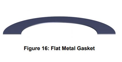 flat metal gasket