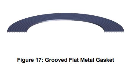 grooved flat metal gasket
