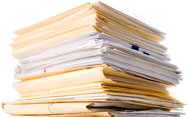 stack of office papers
