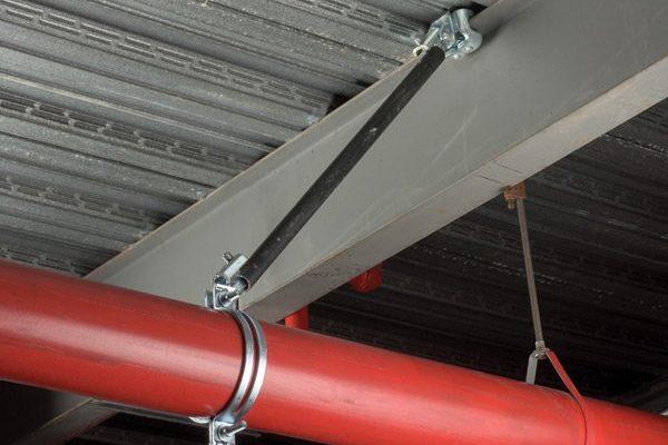 ibeam seismic bracing on pipe