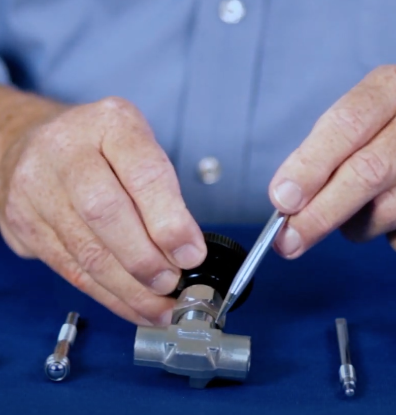 repair of a needle valve