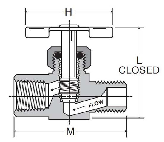 cross-section of needle valve