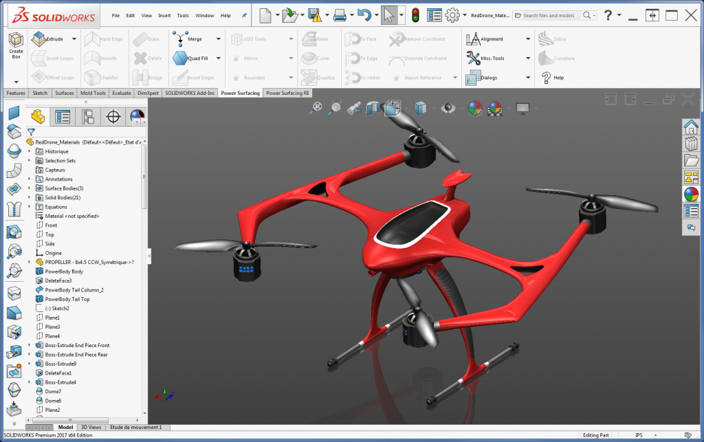 solidworks drawing of a helicopter