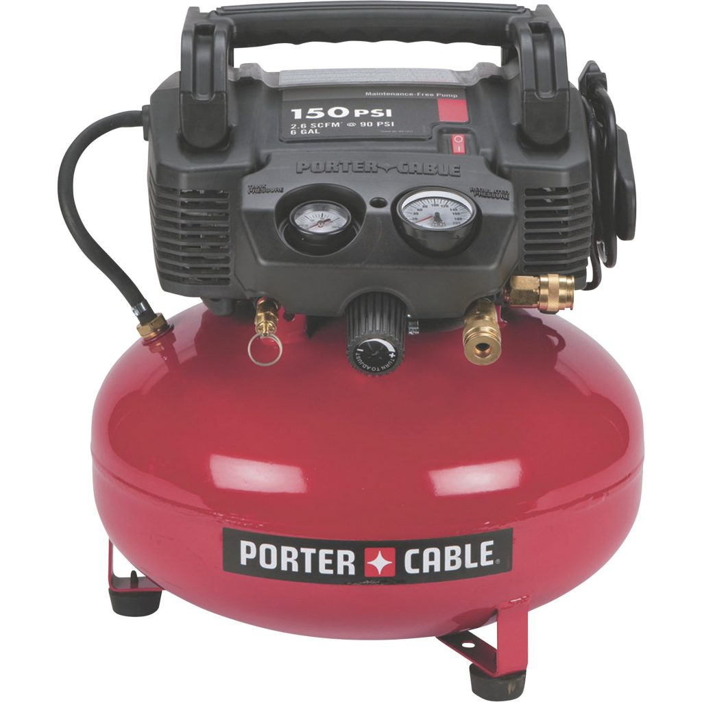 Porter-Cable red compressor pancake style
