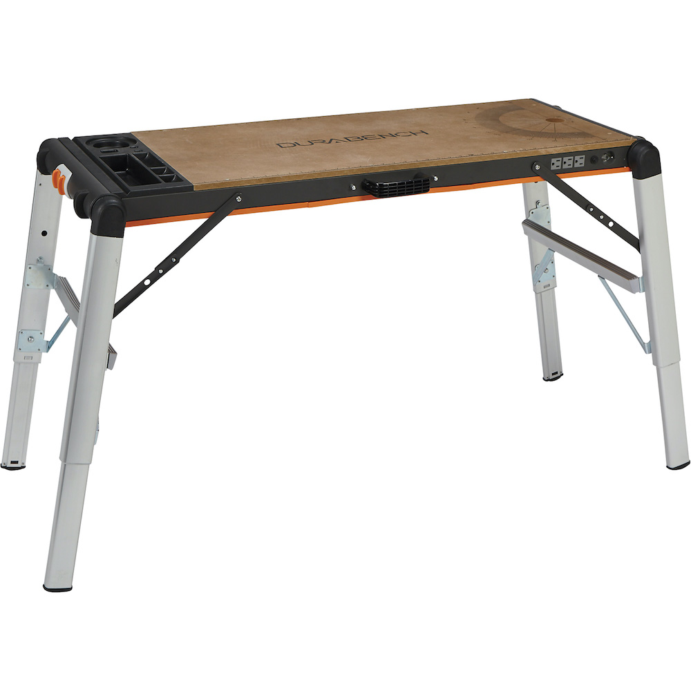 portable work platform with wood top