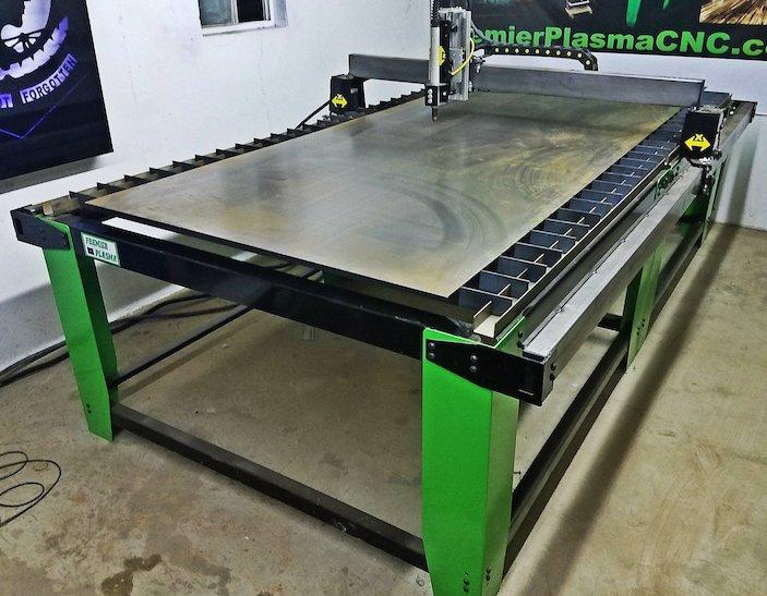 plasma table with steel plate