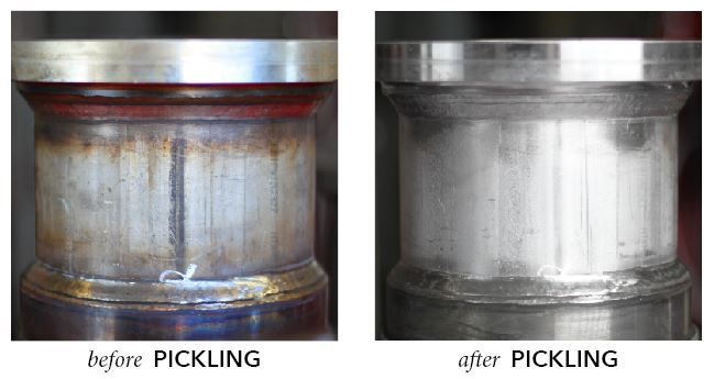 before and after pickling results
