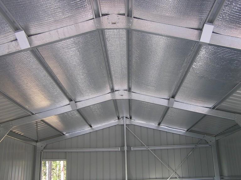 reflective insulative foil in steel pre-fab building