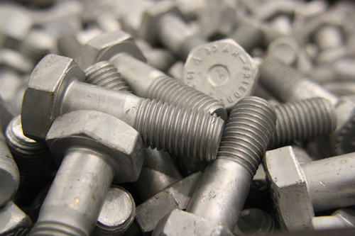 collection of threaded bolts
