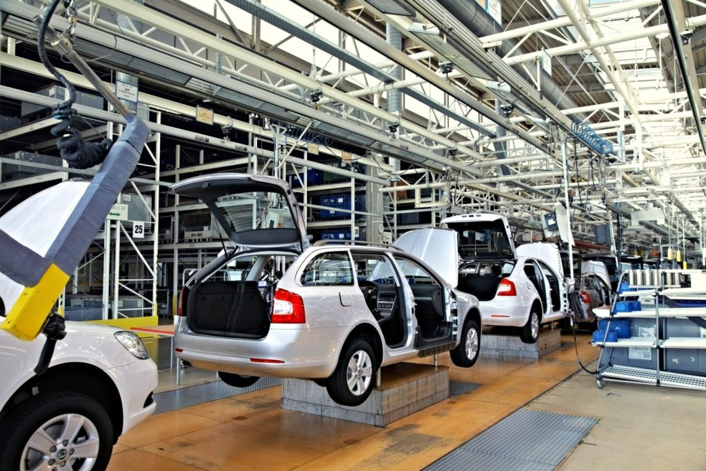 Example of Discrete Manufacturing is automotive production