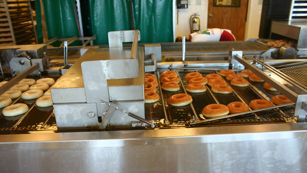 Food processing like donuts use batch process manufacturing