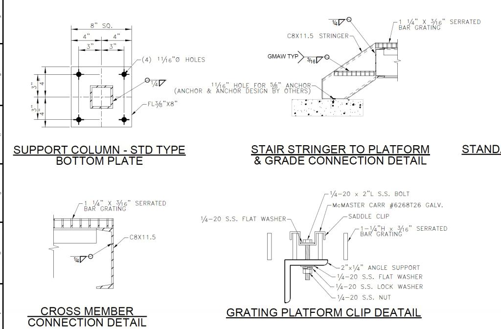 steel detailing drawing