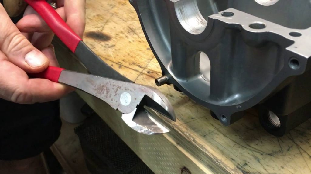 removal of dowel pin with pliers